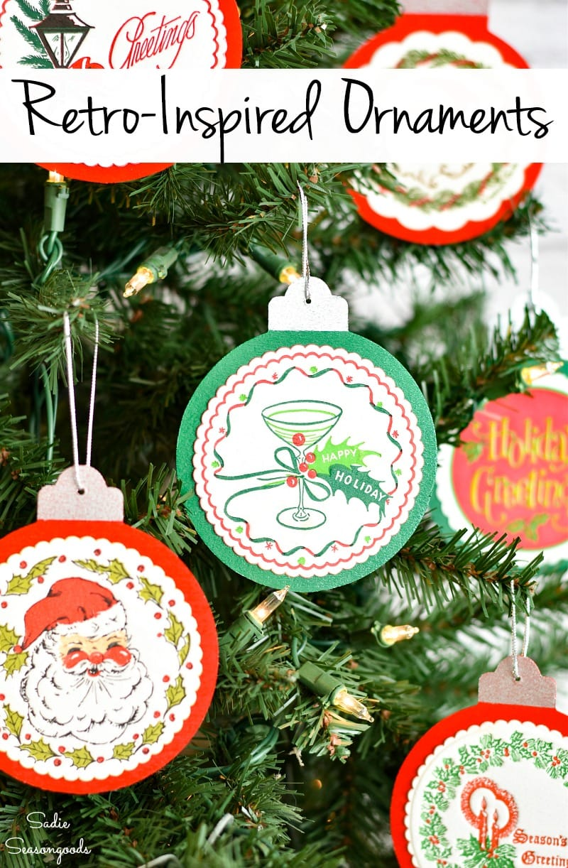 DIY wooden ornaments with Christmas coasters