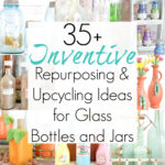 Glass Bottle Crafts and Upcycling Ideas