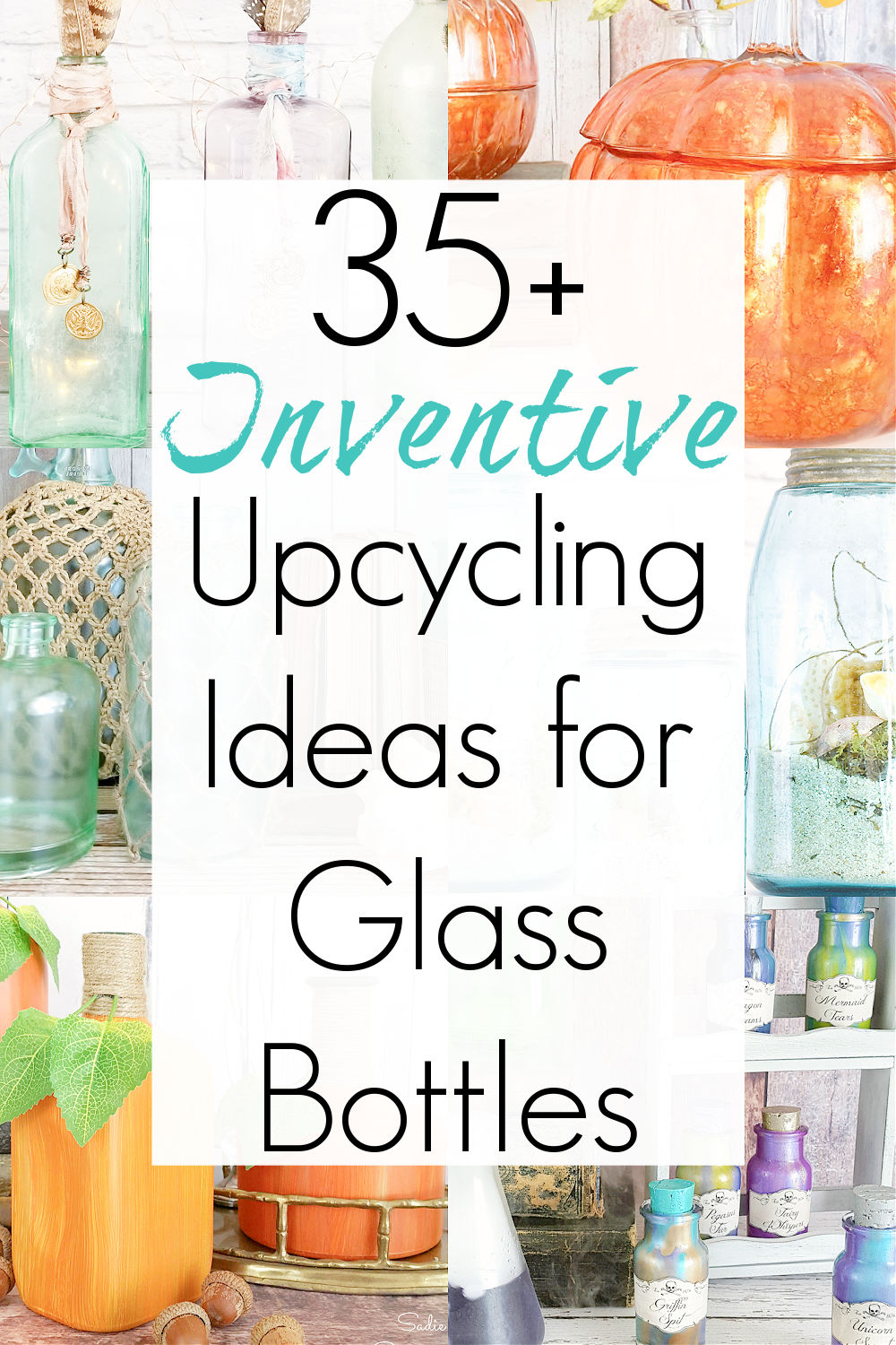 glass bottle ideas and upcycle glass bottles