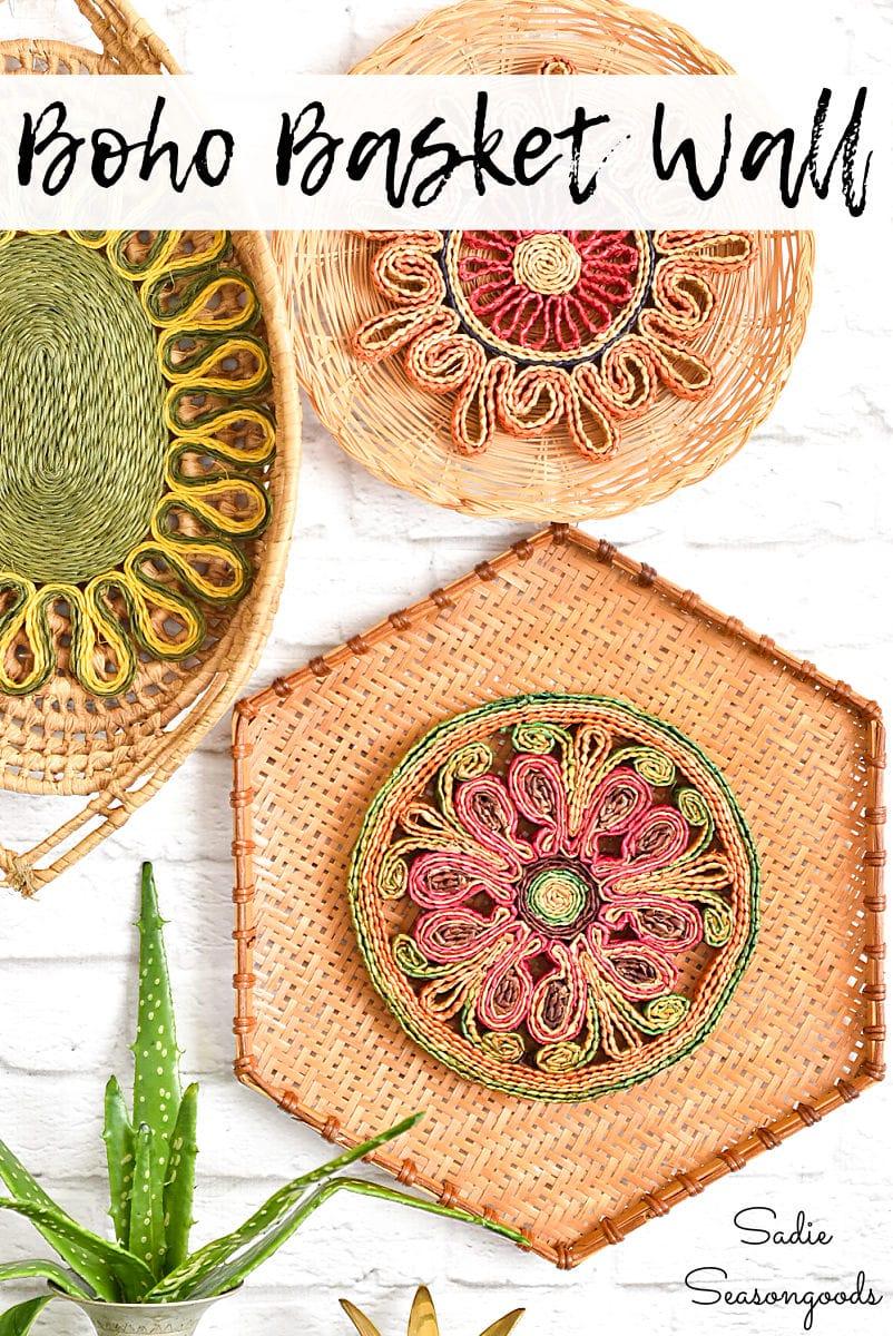 Basket wall decor and Boho wall art
