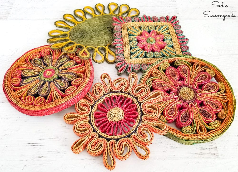 Woven trivets or straw trivets