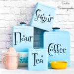 Retro Canisters for Vintage Kitchen Decor