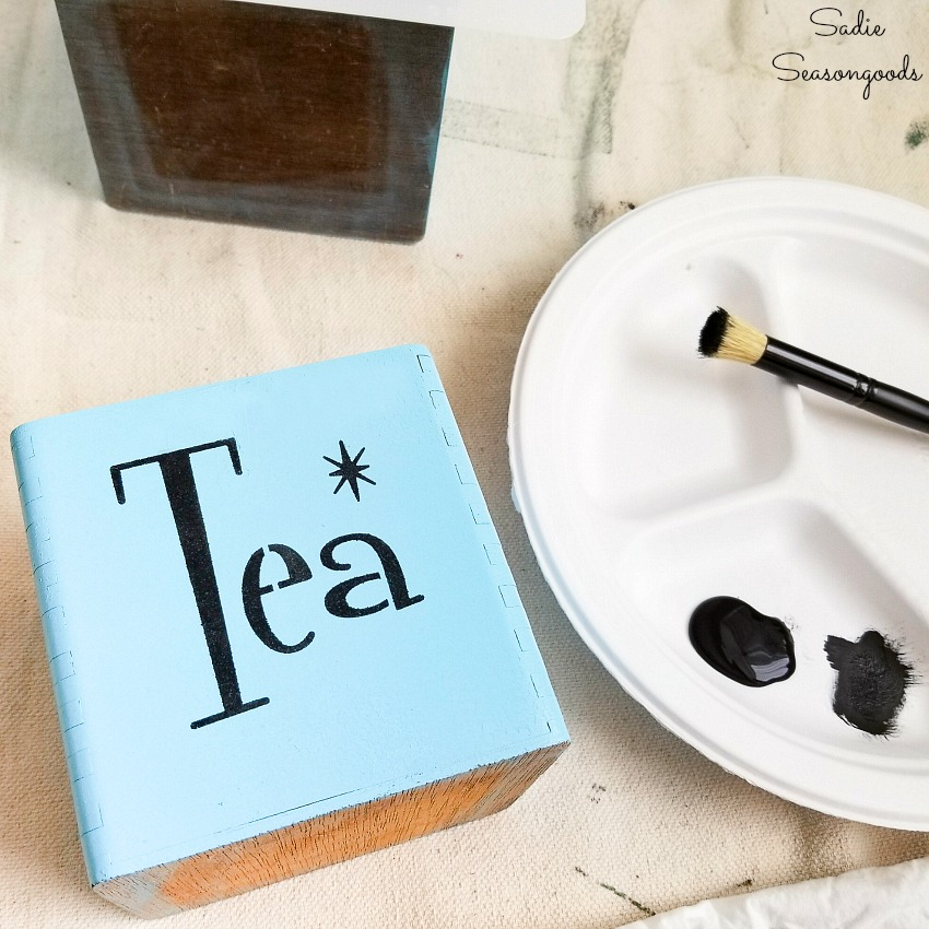 Tea and coffee canisters with a mid century modern font for retro decor