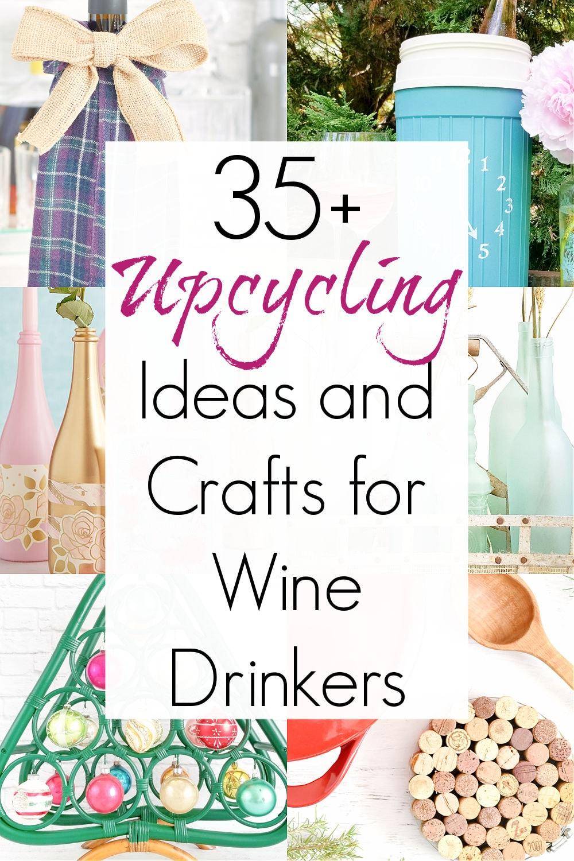 diy wine bottle crafts and wine crafts