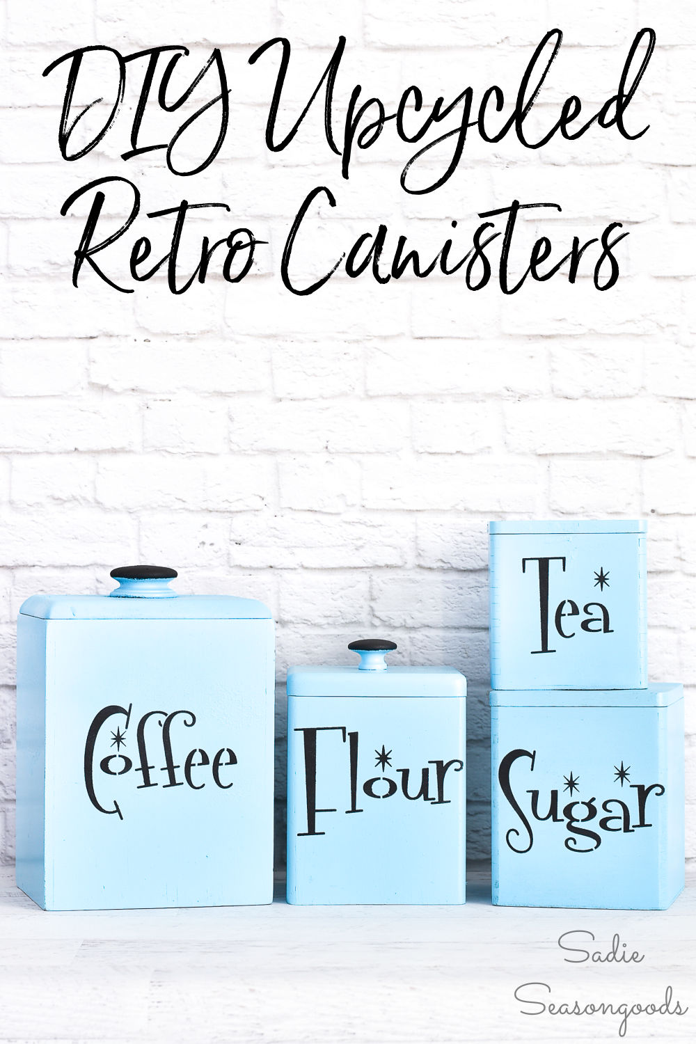 Vintage kitchen canisters for mid century decor