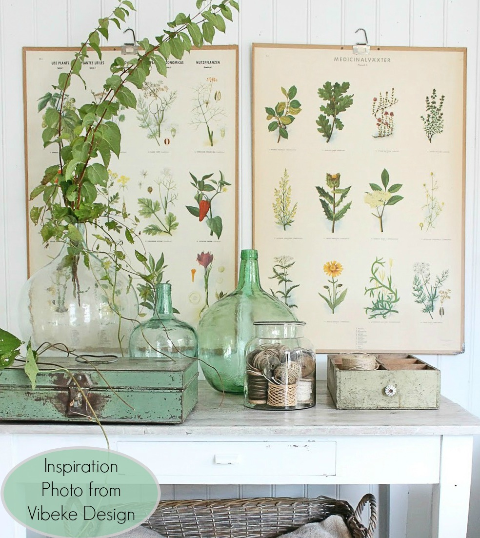 Botanical decor or vintage garden by Vibeke Design