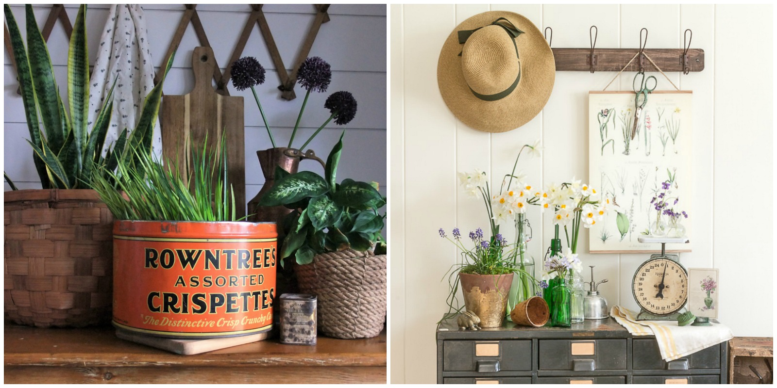 Natural Home Decor and Decor inspired by Vintage Garden by the Creative Vintage Darlings