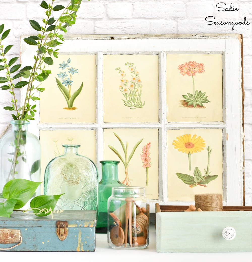 Botanical inspiration from the thrift store