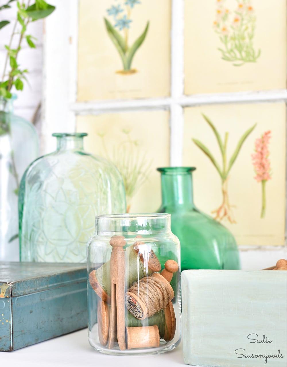 Thrift store decor with botanical inspiration