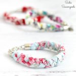 Braided Bracelets from Vintage Handkerchiefs