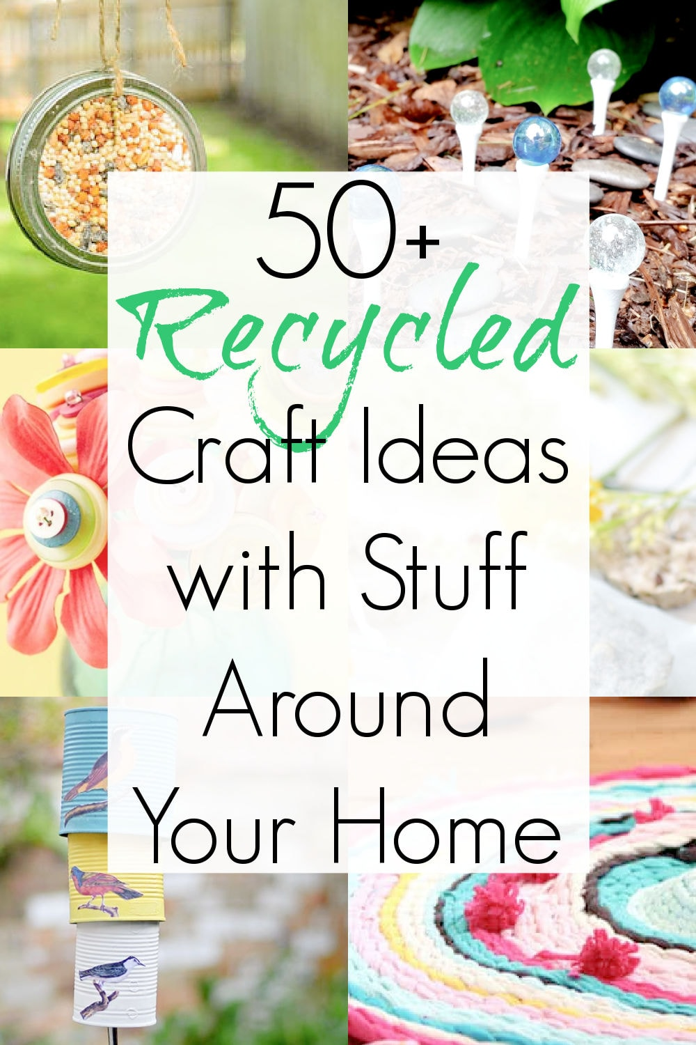 easy recycling ideas with waste materials and household supplies