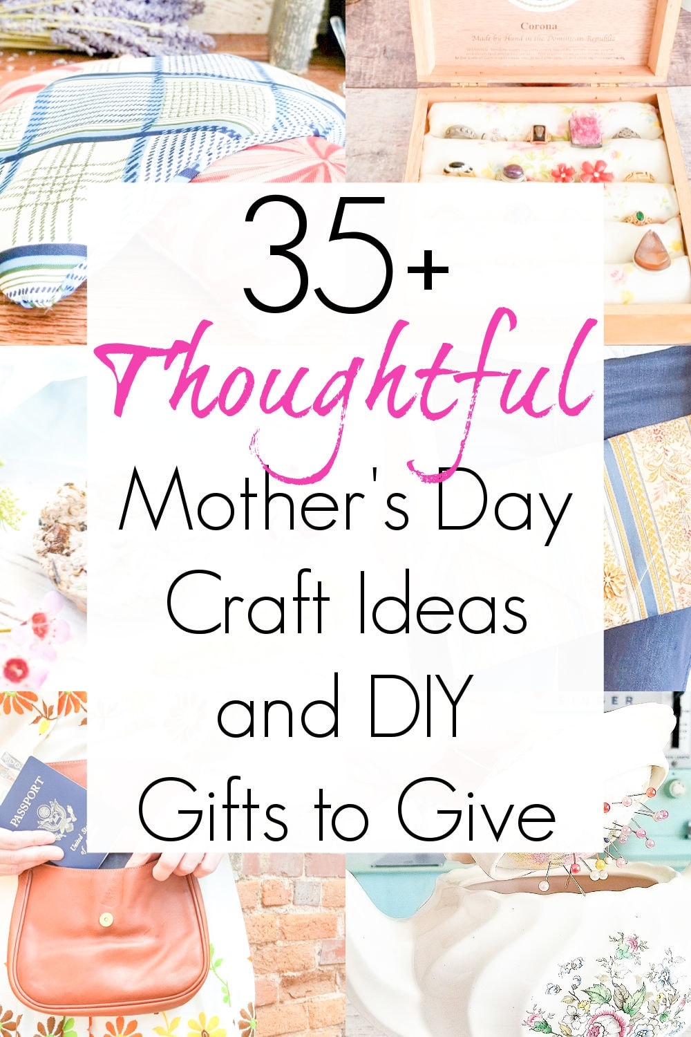 mothers day craft ideas and DIY gifts for her