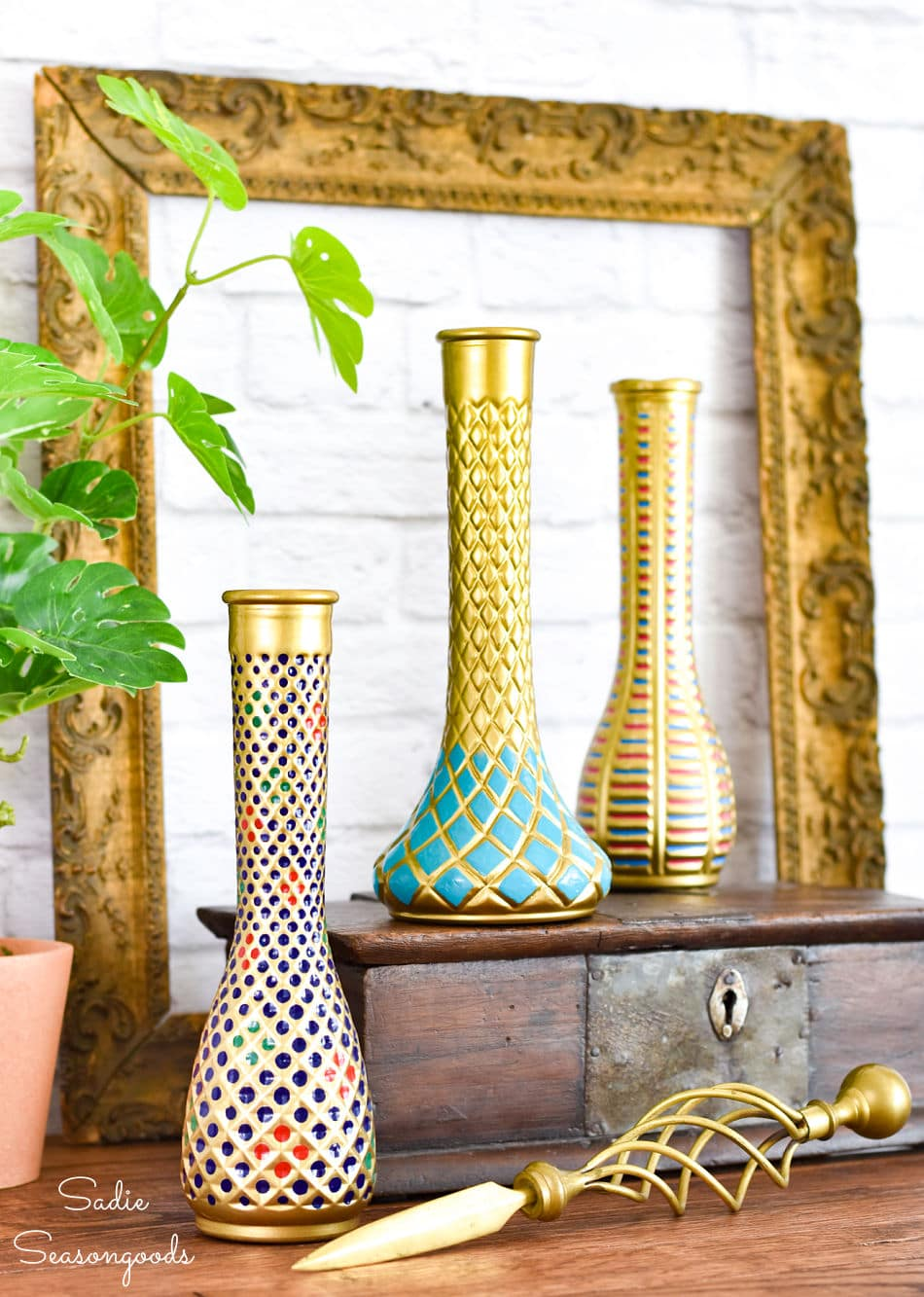 Global inspired decor with a cloisonne vase