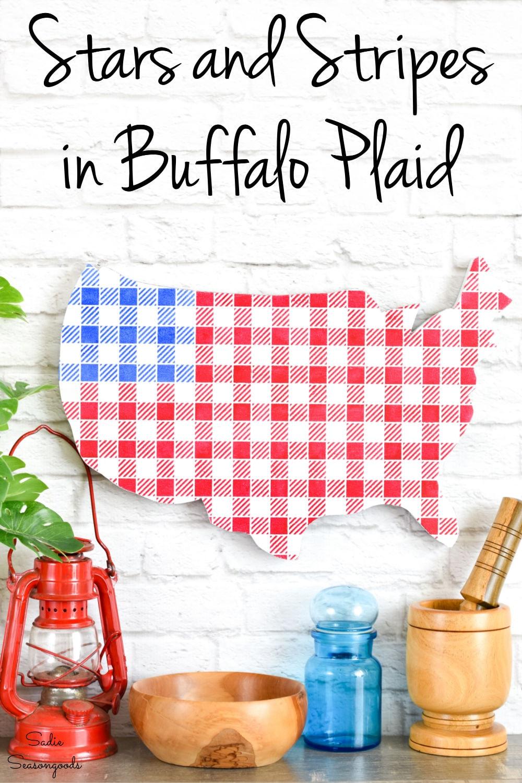 buffalo plaid stencil for stars and stripes