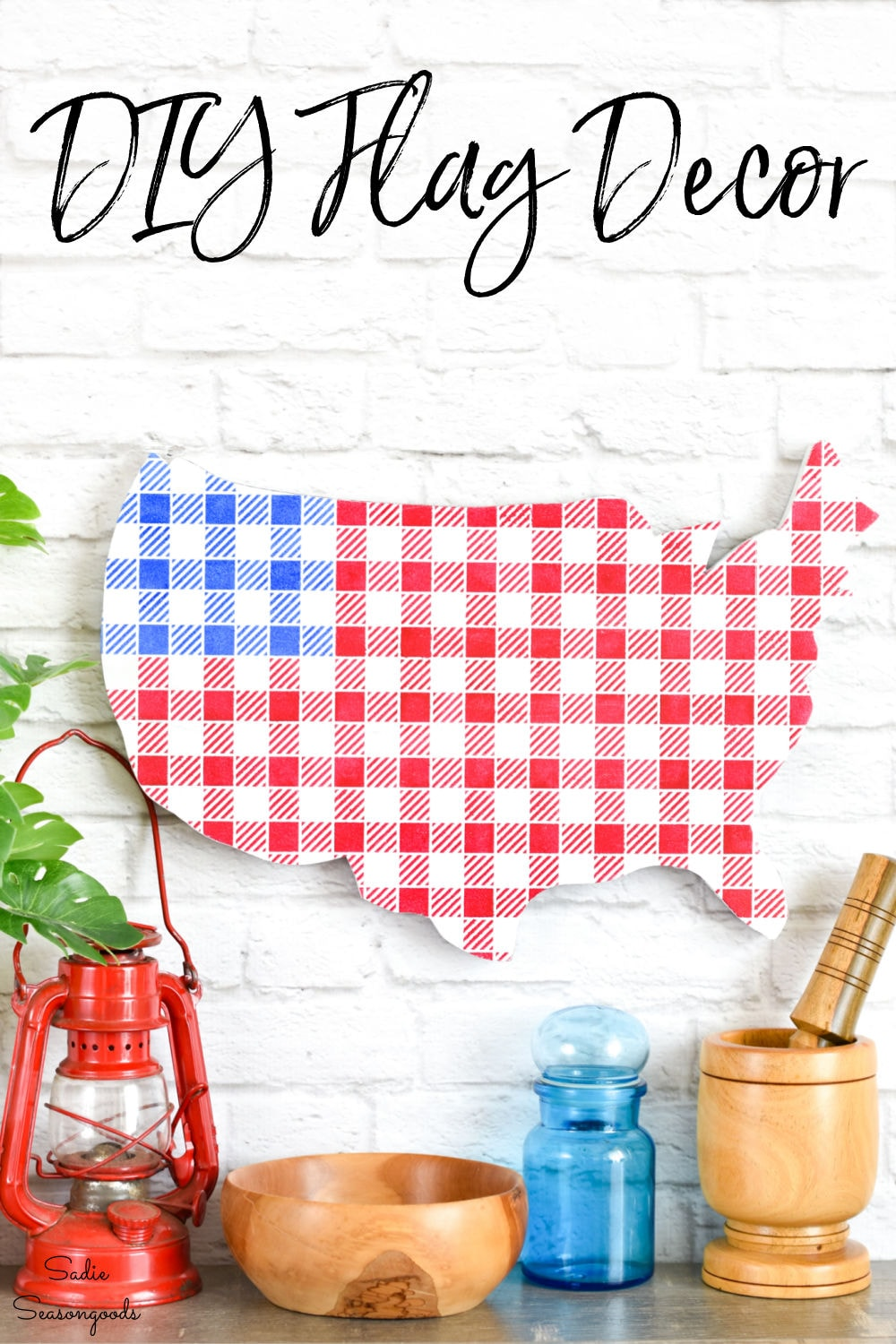 upcycled craft for american flag decor
