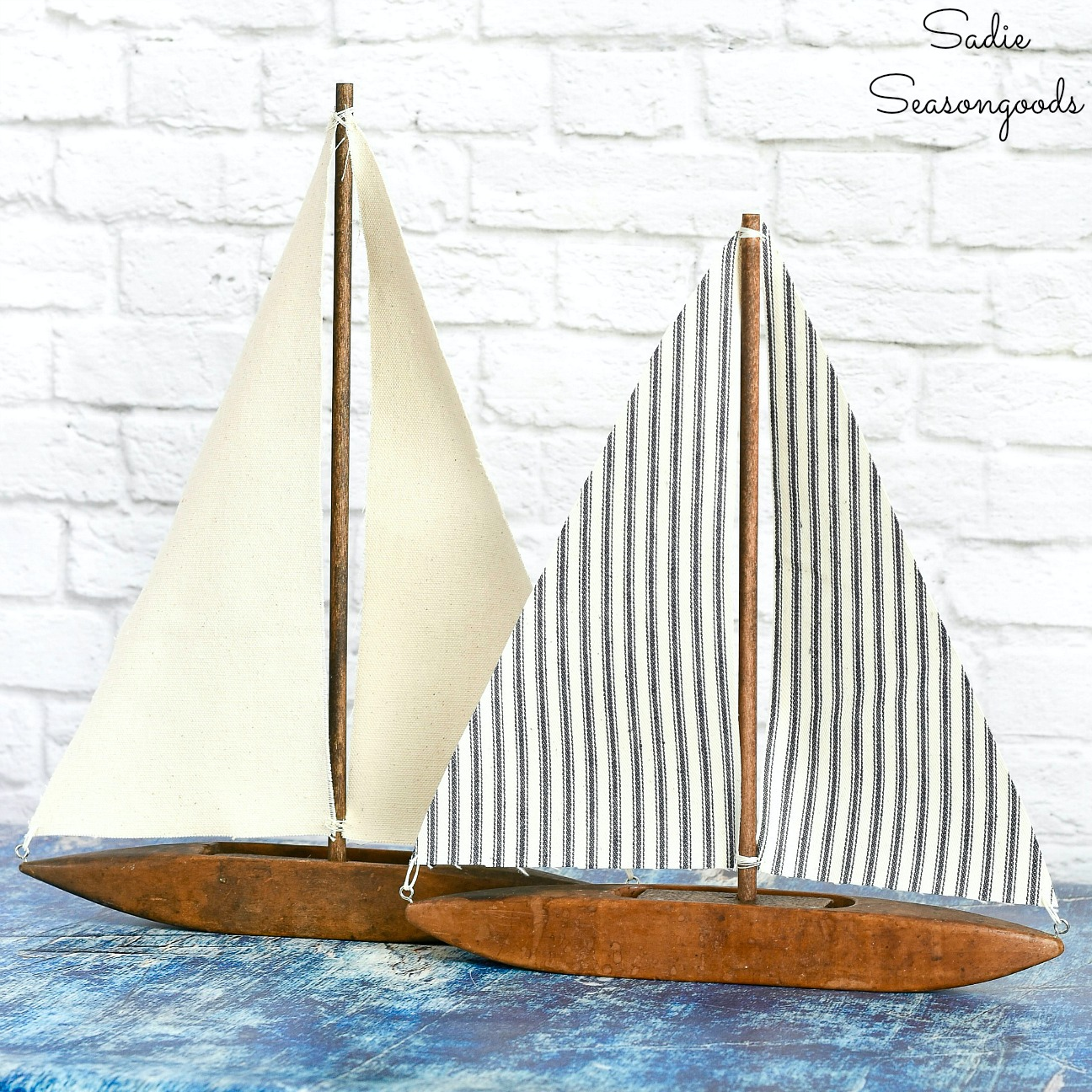 Decorative Sailboats with a Weaving Shuttle