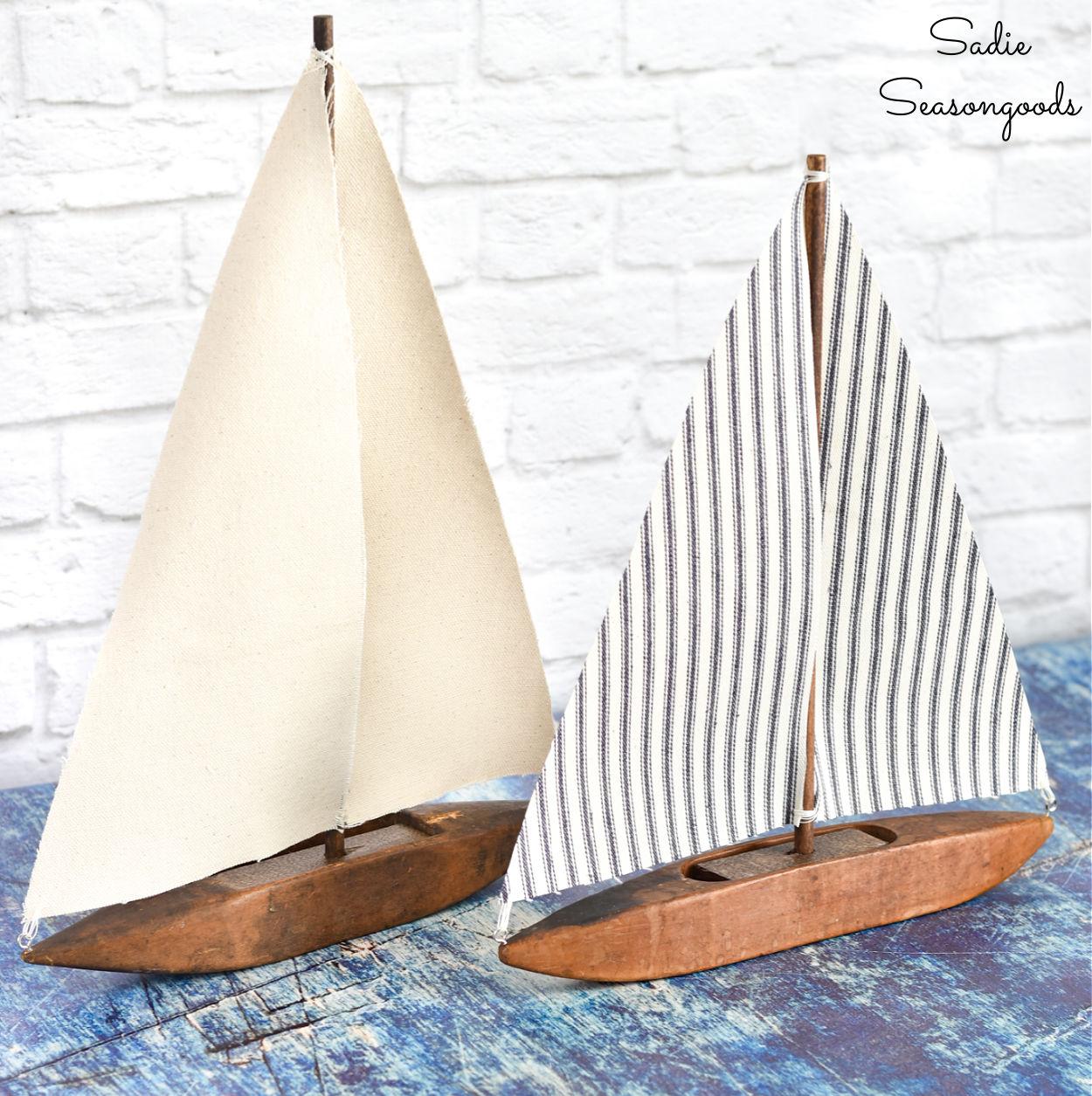 Sailboat Decor from a Weaving Shuttle