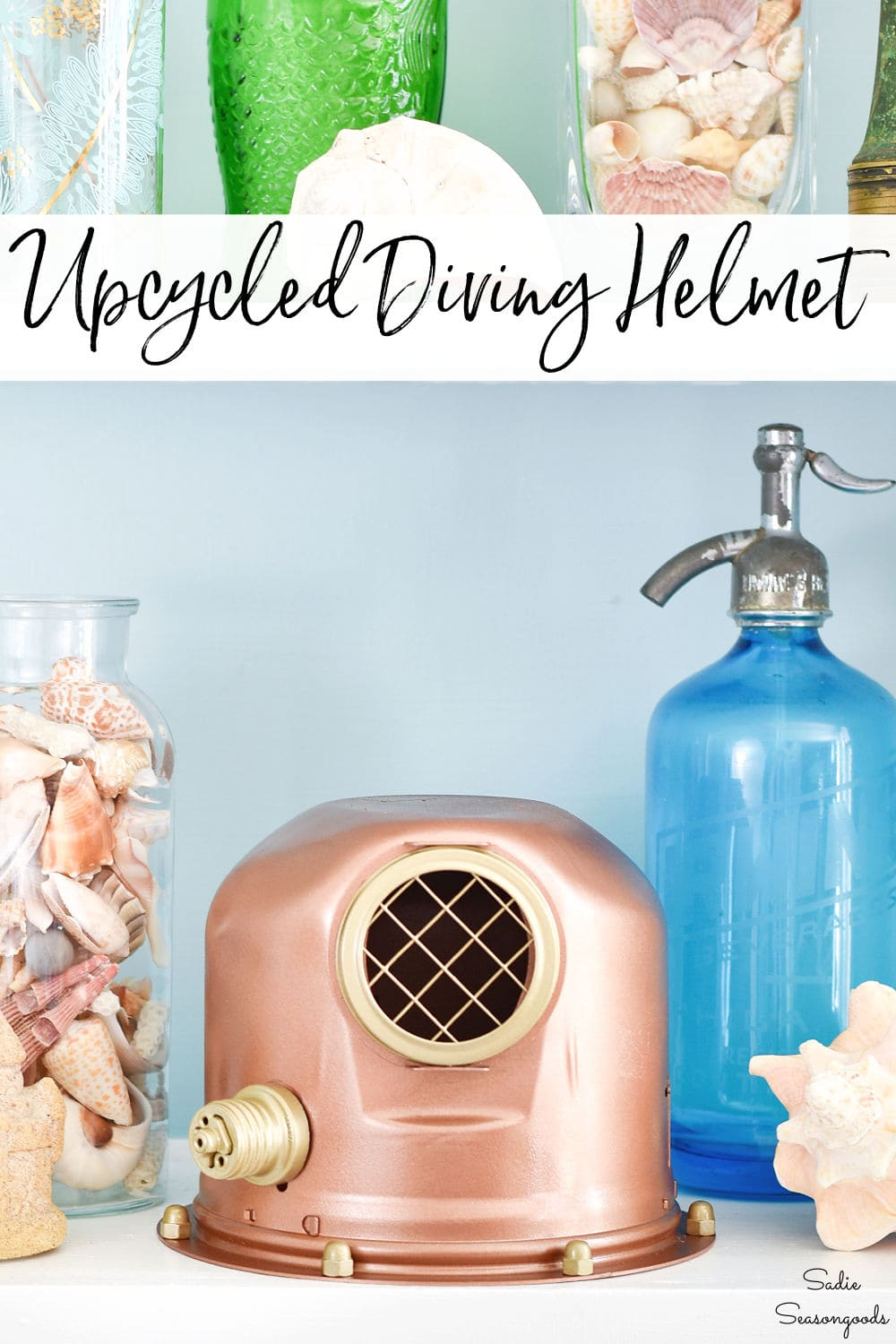 upcycling idea for an antique diving helmet