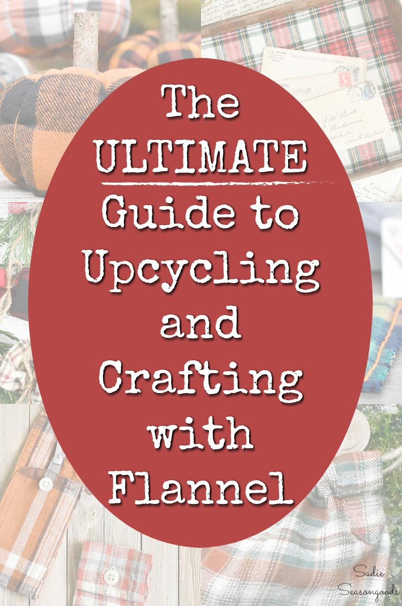 Craft book for flannel crafts and repurposed flannel shirts