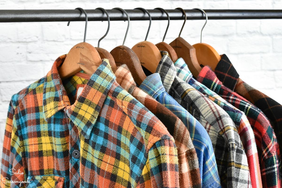 Vintage flannel shirts from Crafting with Flannel