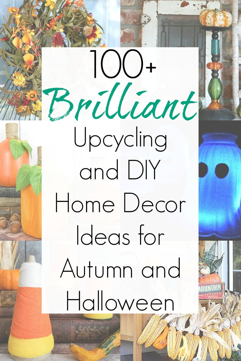 Autumn home decor and upcycling ideas for a DIY Halloween