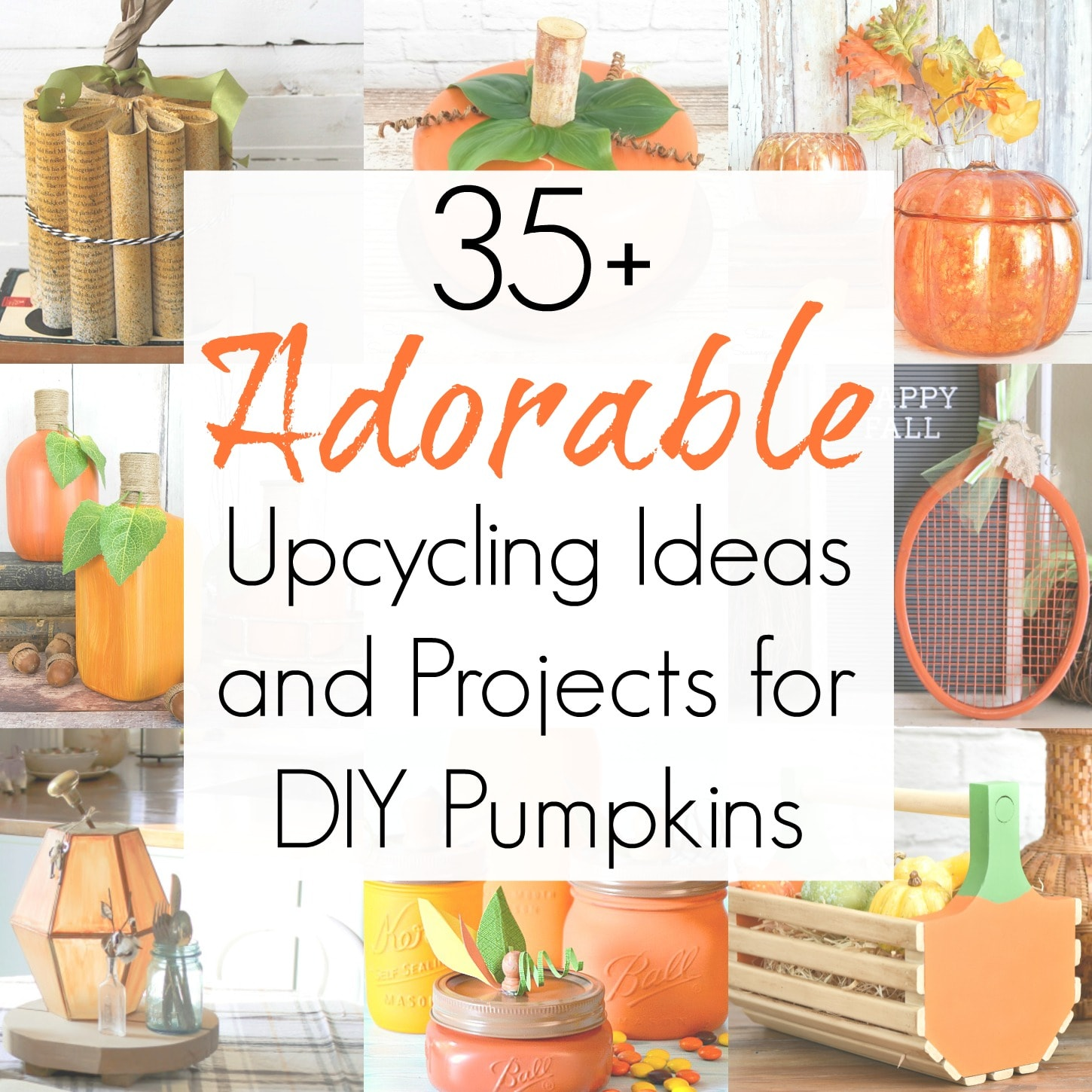 35+ Upcycling Ideas and Projects for Fall Pumpkin Decorations