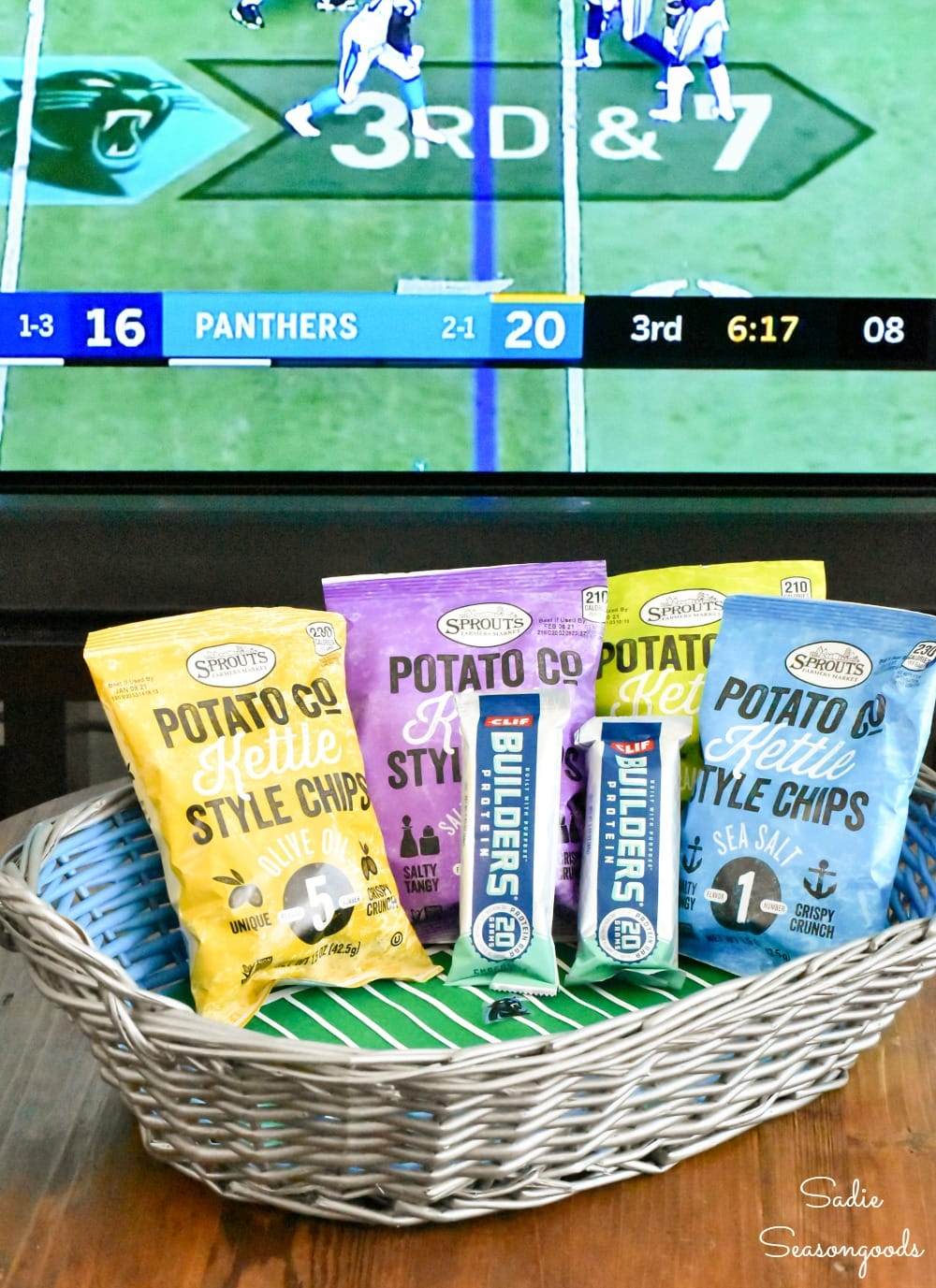 Game Day decor for social distance tailgating