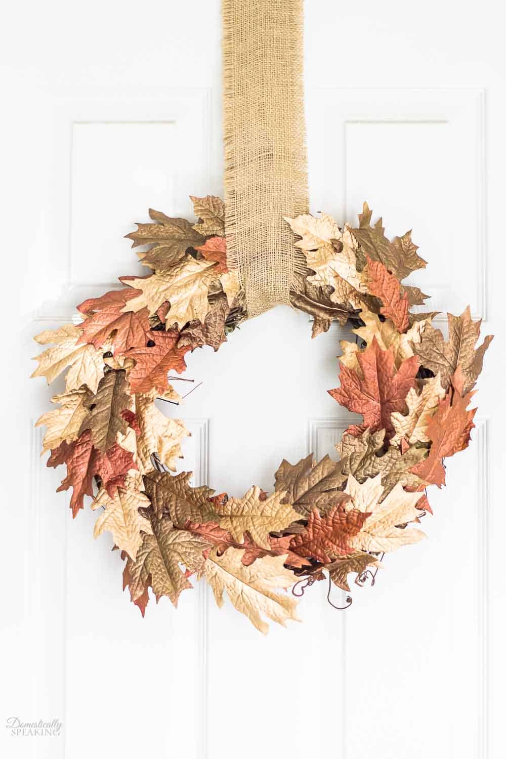 Metallic Leaf Wreath