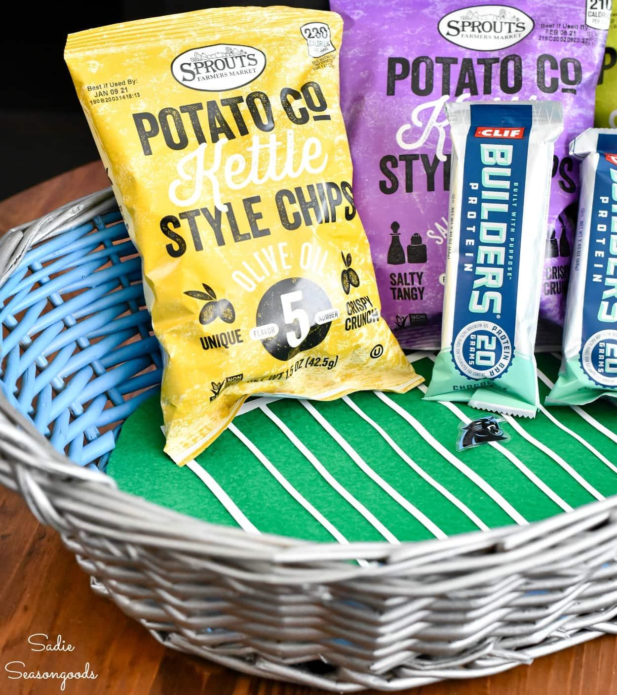 Tailgating at Home with a Stadium-Inspired Snack Basket