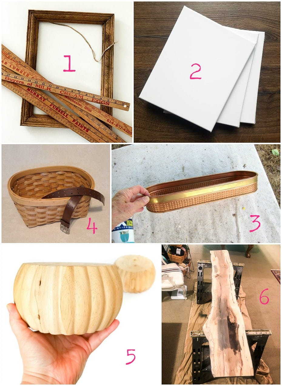Thrift store upcycles and repurposing ideas