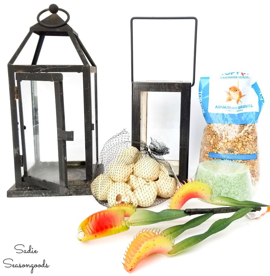 craft supplies needed for a halloween terrarium