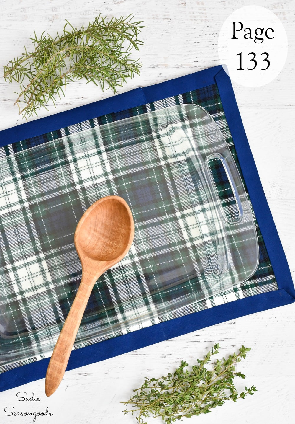 DIY hot pad with flannel fabric