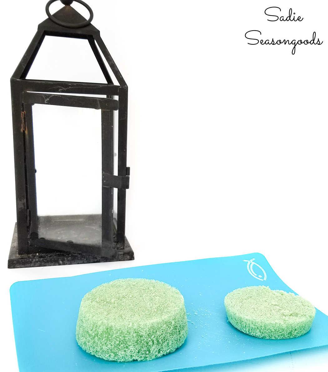 floral foam for a lantern terrarium