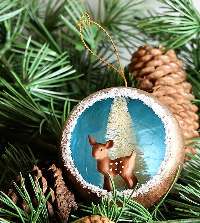Retro inspired diorama ornaments by House of Hawthornes