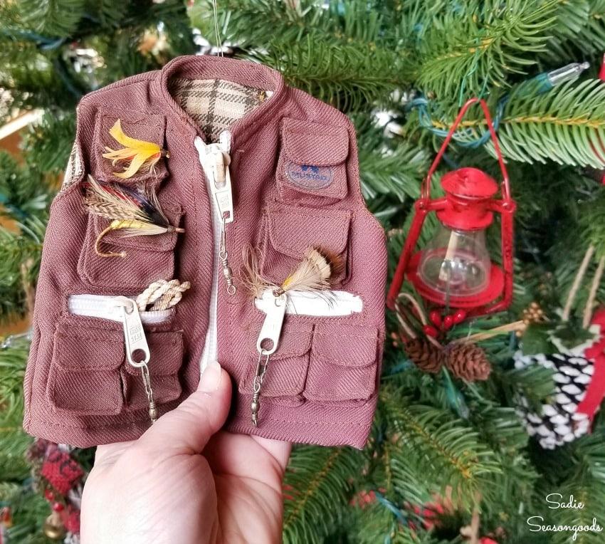 Fly fishing vest ornament