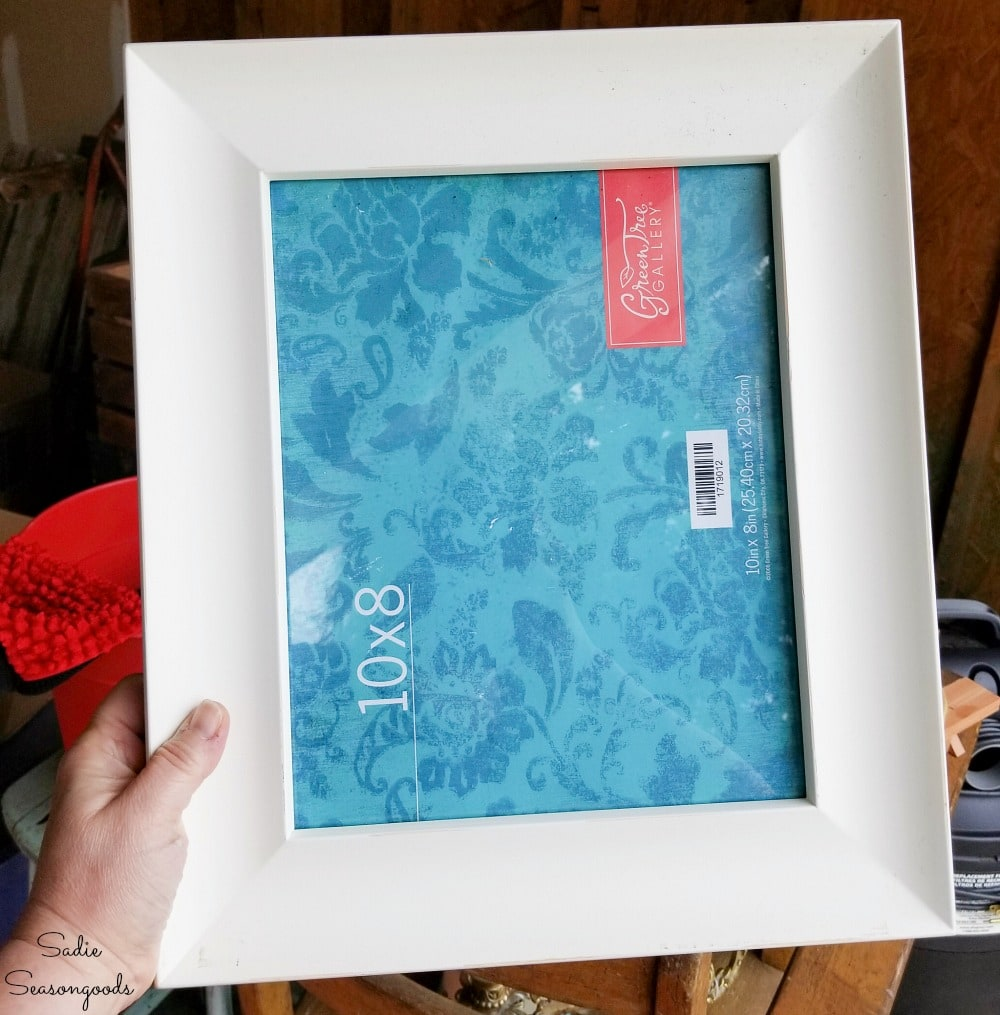 Wide set picture frame for wreath making