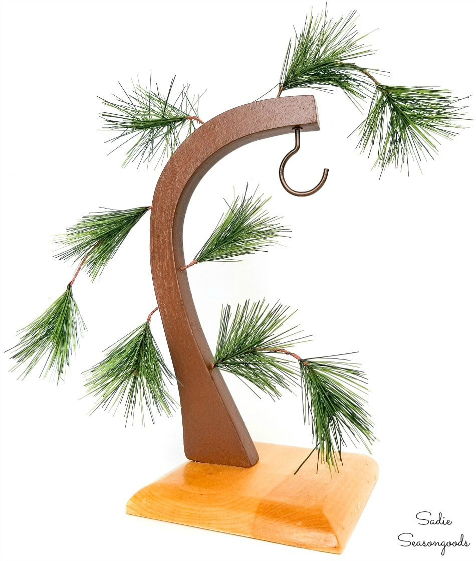 Charlie Brown Christmas tree from a banana hanger