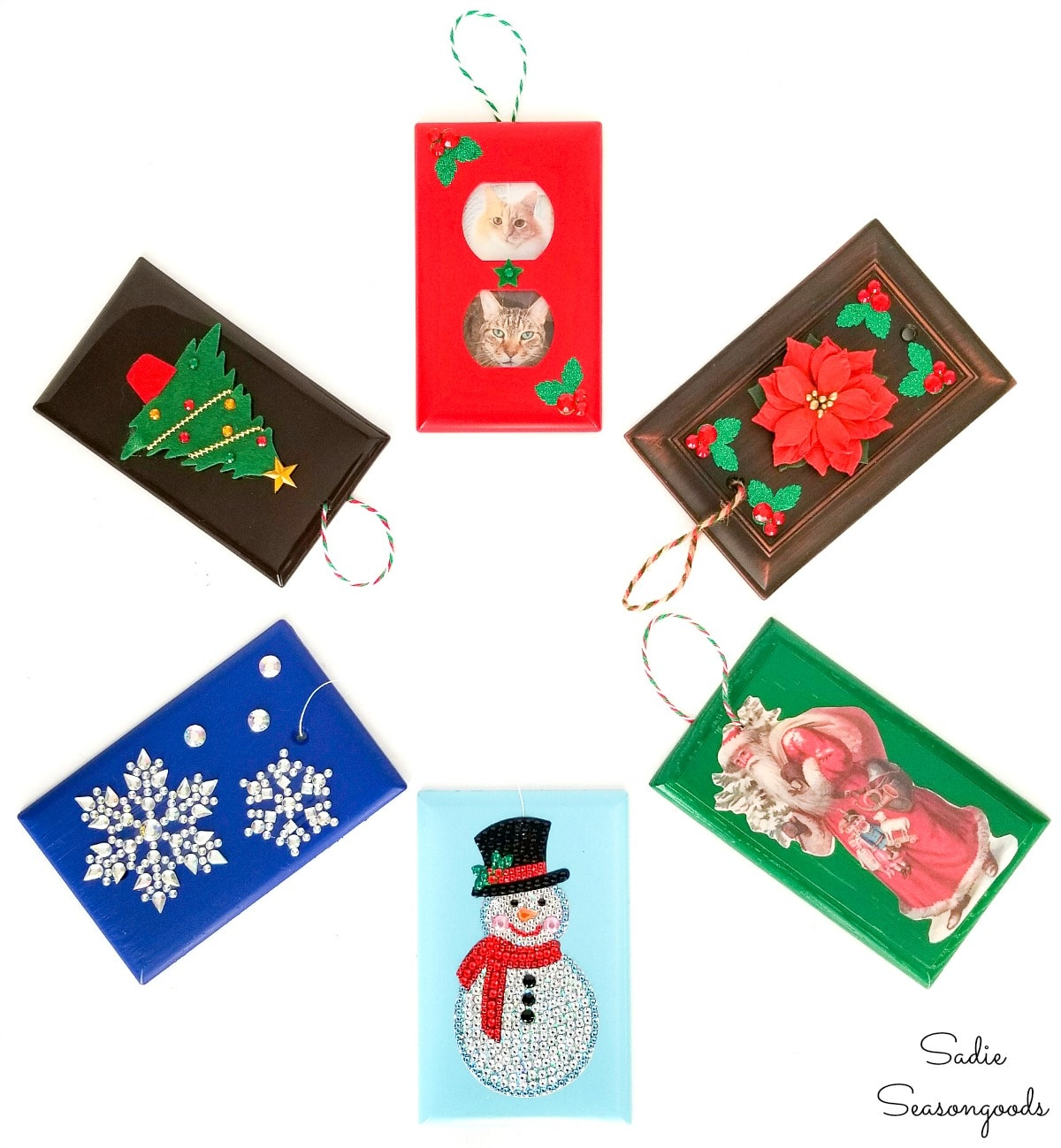 Christmas ornament crafts for kids with switchplate covers