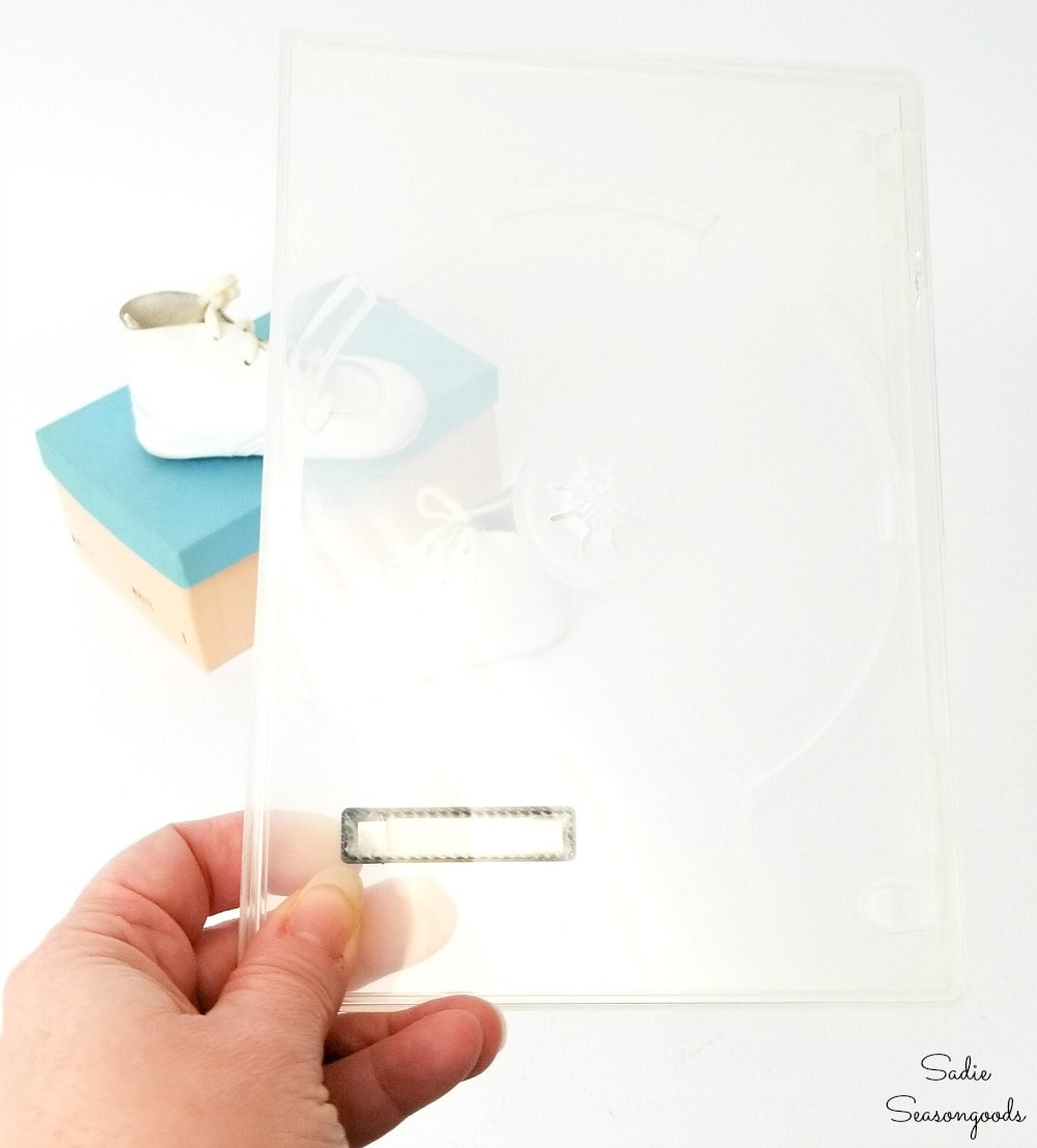 Crafting with plastic from a DVD case