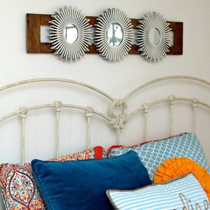 Sunburst mirrors by Petticoat Junktion