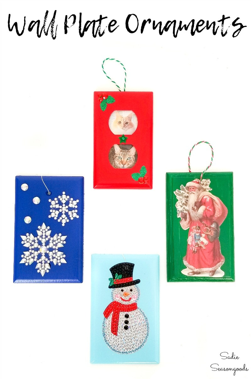 Switchplate covers as DIY Christmas ornaments