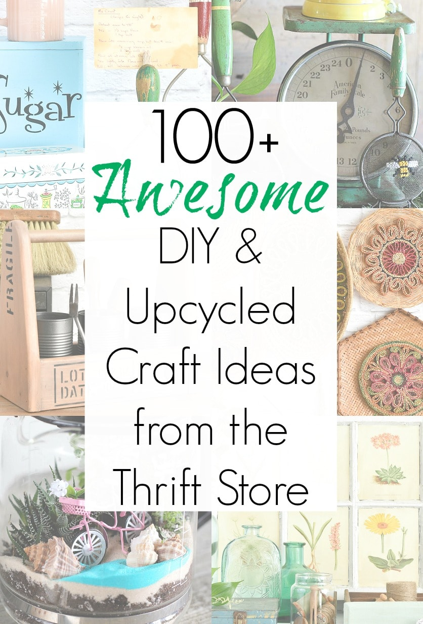 Thrift store makeovers and upcycling craft ideas