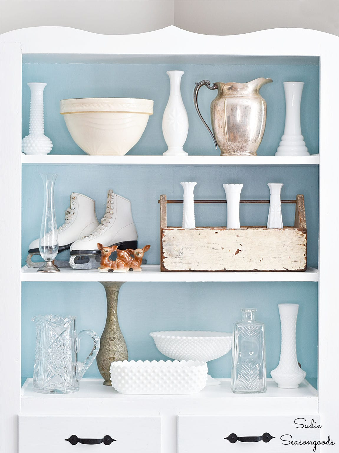 Thrifting for winter decorating ideas