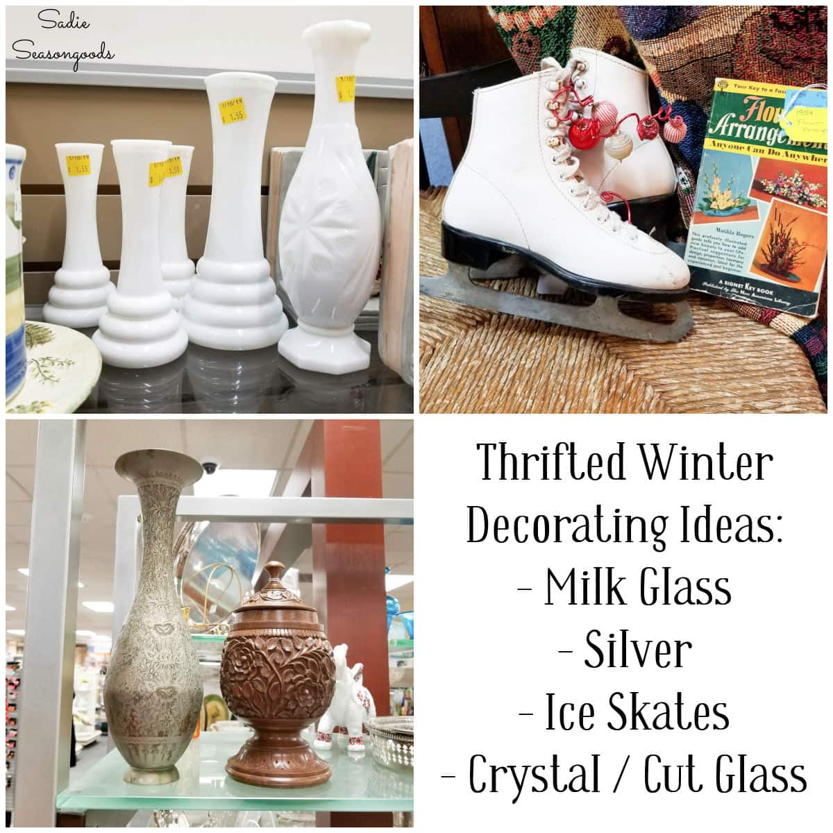 Winter decorating ideas from thrift stores and antique malls