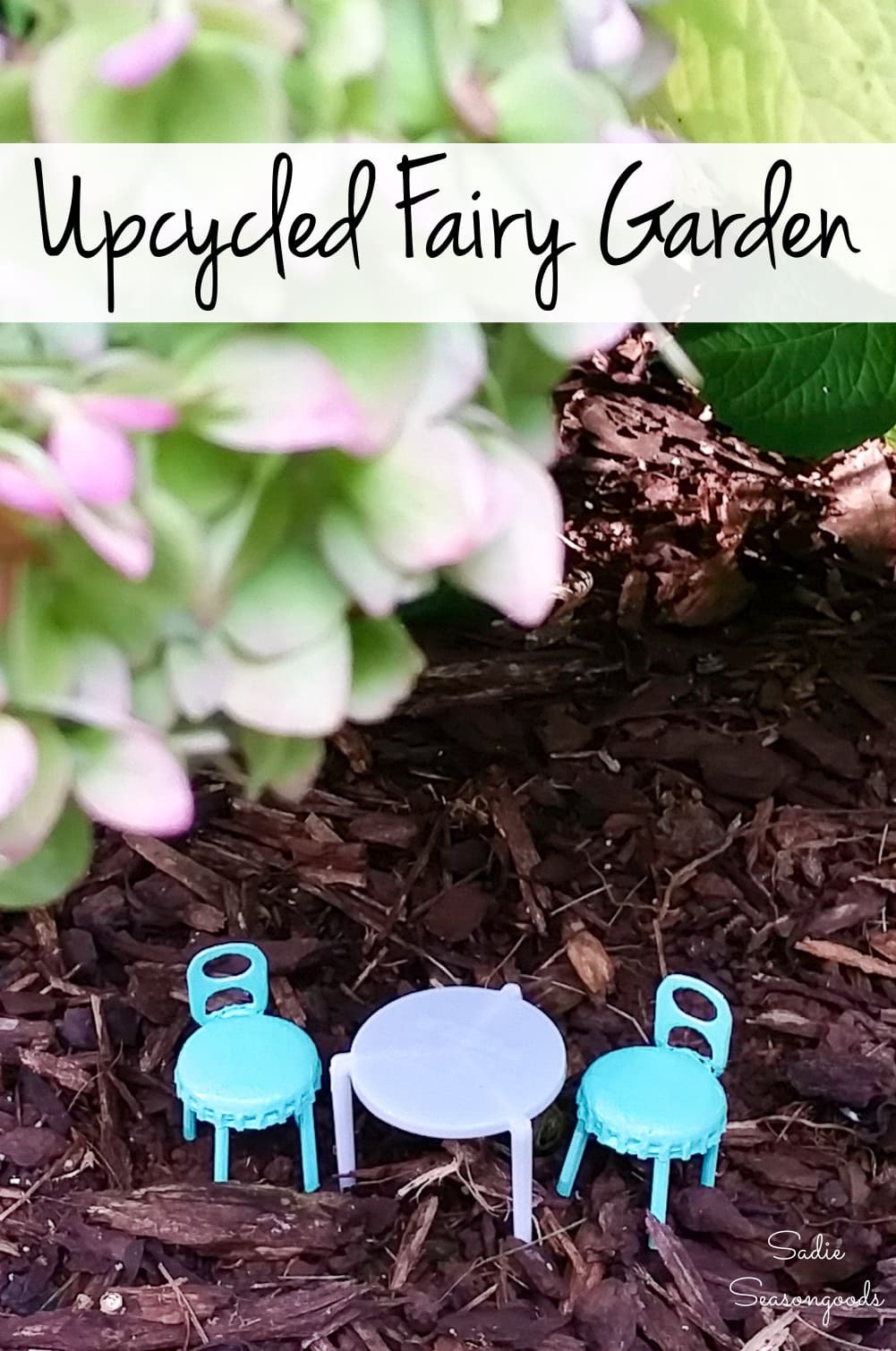 Fairy garden furniture by crafting with junk