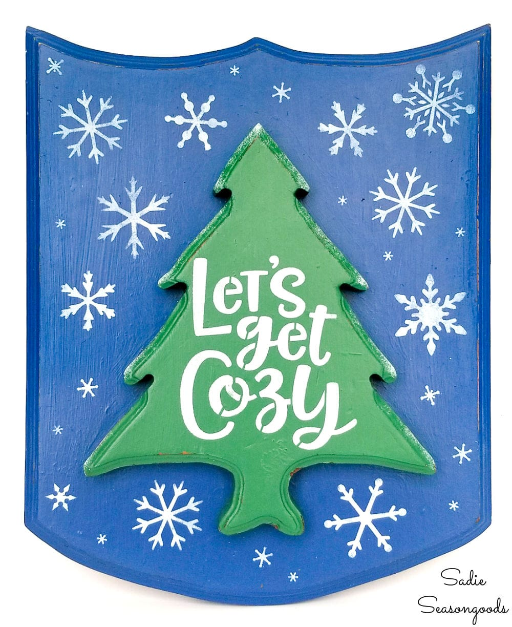 Let's get cozy sign for winter home decor