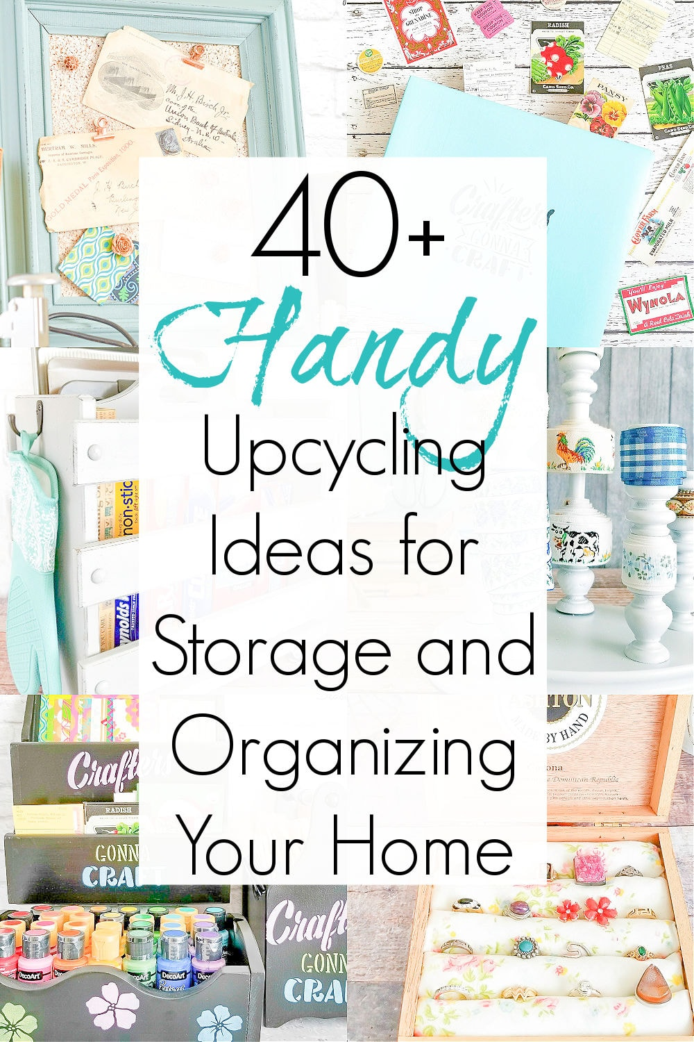 Recycling ideas for organization and easy upcycling ideas for storage