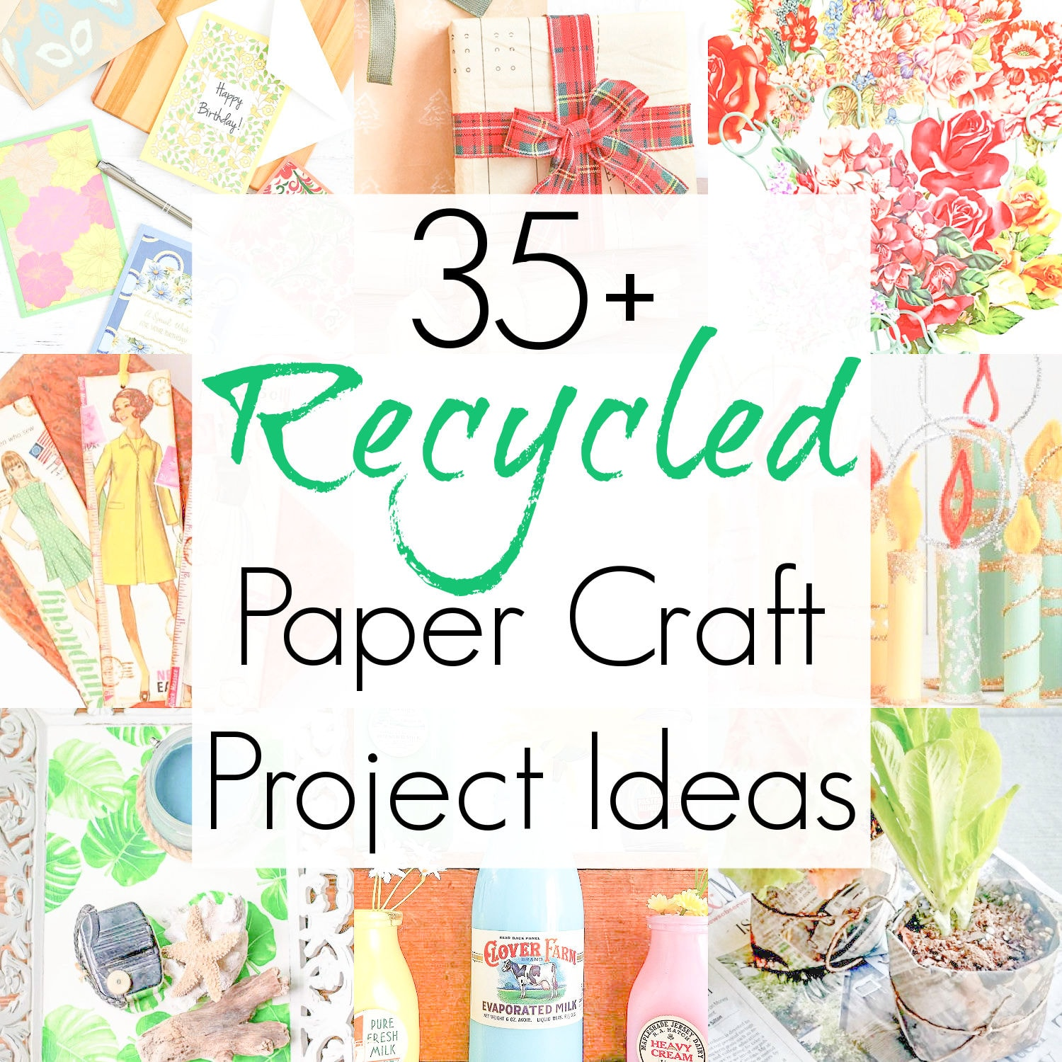 Recycled Paper Crafts for Vintage Ephemera and Other Upcycled Paper