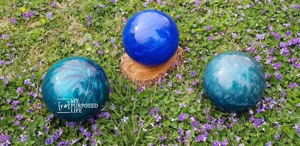 garden gazing balls from bowling balls