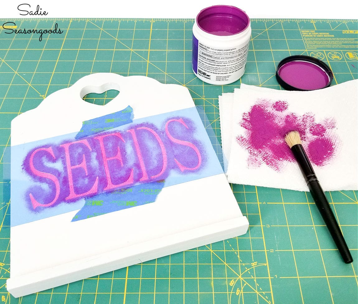 seed stencil for a seed organizer